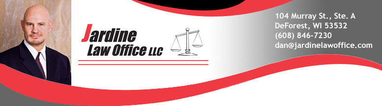 Jardine Law Office website header and link to website
